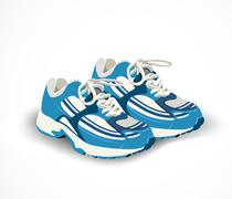 Sport shoes, sneakers. Vector illustration Stock Illustration