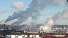 factory chimney in tacoma - stock footage