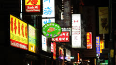Chinatown signs. Stock Footage