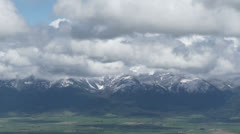 Mission Mountains, Clouds, Time Lapse Stock Footage