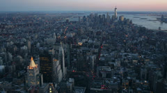 Panoramic View from the Empire State Building, New York Stock Footage