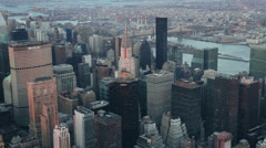 Skyscrapers seen from the Empire State Building, New York Stock Footage