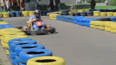 Carting in the park - stock footage