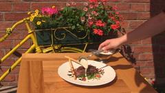 Beef tenderloin Stock Footage