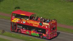 Bus tour, Sightseeing,Edinburgh,Scotland.50Mbs Stock Footage