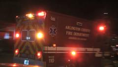 ALS Arlington County, Va. responding night Stock Footage