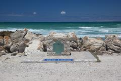 Southern-most Tip of Africa (Cape L'Agulhas) - stock photo