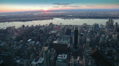 Sunset seen from the Empire State Building, New York Stock Footage