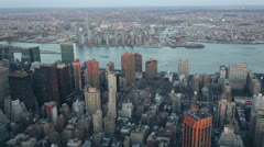 Skyscrapers and Hudson River seen from the Empire State Building, New York Stock Footage
