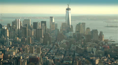 Skyscrapes and Hudson River seen from the Empire State Building, New York Stock Footage