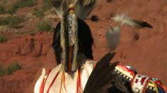 Young Native American Traditional Dancer Stock Footage