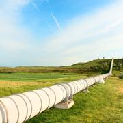 high pressure pipeline - stock photo