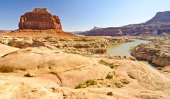 Tributary of the dirty devil river in glen canyon, ut Stock Photos
