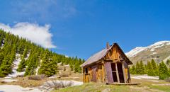 A preserved house in animas forks, a ghost town in the san juan mountains of  Stock Photos