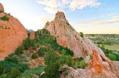 Rock formation at garden of the gods in colorado springs, colorado Stock Photos