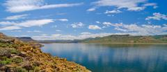 blue mesa reservoir in the curecanti national recreation area in southern col - stock photo