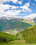 Telluride, colorado, the most beautiful city in the usa Stock Photos