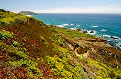 california state route 1 vista - stock photo