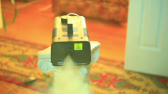 Fog machine fogger Stock Footage