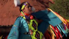 Native American Shawl Dancer Female 10 - stock footage