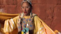 Native American Shawl Dancer Female 09 - stock footage