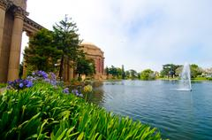 The courtyard at the palace of fine arts in san francisco Stock Photos