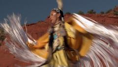 Native American Shawl Dancer Female 08 - stock footage