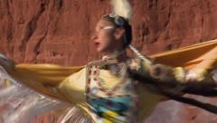 Native American Shawl Dancer Female 06 - stock footage