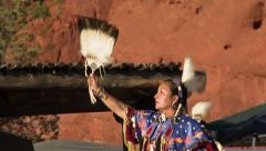 Native American Traditional Dancer Female 01 - stock footage