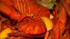 SEAFOOD PLATTER Lobsters & Shrimps - stock footage