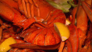 Stock Video Footage of SEAFOOD PLATTER Lobsters & Shrimps