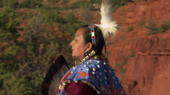 Native American Traditional Dancer Female 02 Stock Footage
