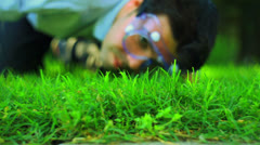 Lawn obsessed obsession grass chemicals Stock Footage