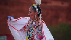 Native American Shawl Dancer Female 02 - stock footage