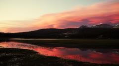 Yosemite Sunset - stock footage