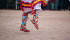 Native American Traditional Dancer Female Moccasins 03 - stock footage