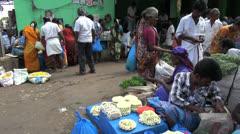 India Madurai flower market Stock Footage