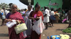 Stock Video Footage of India women in a flower market in Madurai
