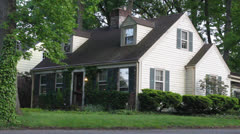 White East Coast House with Ivy Covered Tree - stock footage