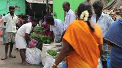India Madurai flower market c1 Stock Footage