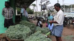 India Madurai flower market c Stock Footage