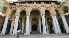 India Tamil Nadu Madurai Thirumalai columns and decorated eave 14 Stock Footage