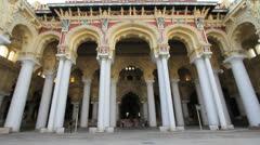 India Tamil Nadu Madurai Thirumalai entrance to palace upward view 11 Stock Footage