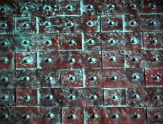 Seamless abstract metal texture background grunge pattern Stock Photos