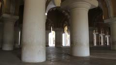 India Tamil Nadu Madurai Thirumalai palace columns in hall 4 Stock Footage