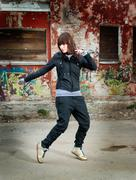 l hip hop style dancer posing - stock photo