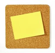 post-it on cork board - stock photo