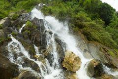 Chamana Waterfall In Tungurahua Province Ecuador - stock photo