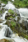 Stock Photo of Chamana Waterfall In Tungurahua Province Ecuador