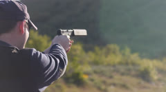 Handgun CU Stock Footage